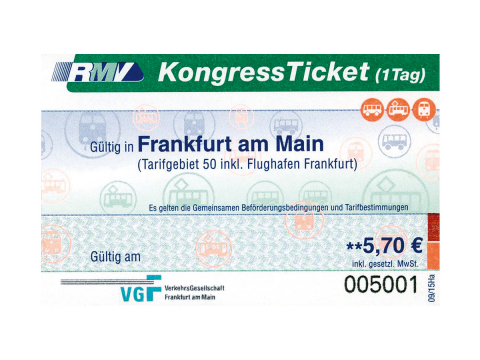 Kongress-Ticket 2018 Ticket ÖPNV Kongress Tagung