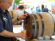 Serving apple wine at the Apple Wine Festival