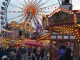 Fairground attractions at the Spring Dippemess