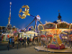 Fairground attractions at the Autumn Dippemess