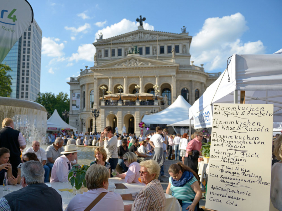 View of the Opera Square Festival, in the background the Old Opera House