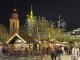View of the Christmas market at Hauptwache at night