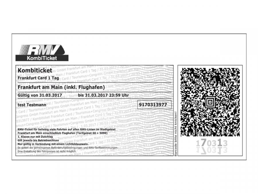 print your frankfurt card at home frankfurt tourism