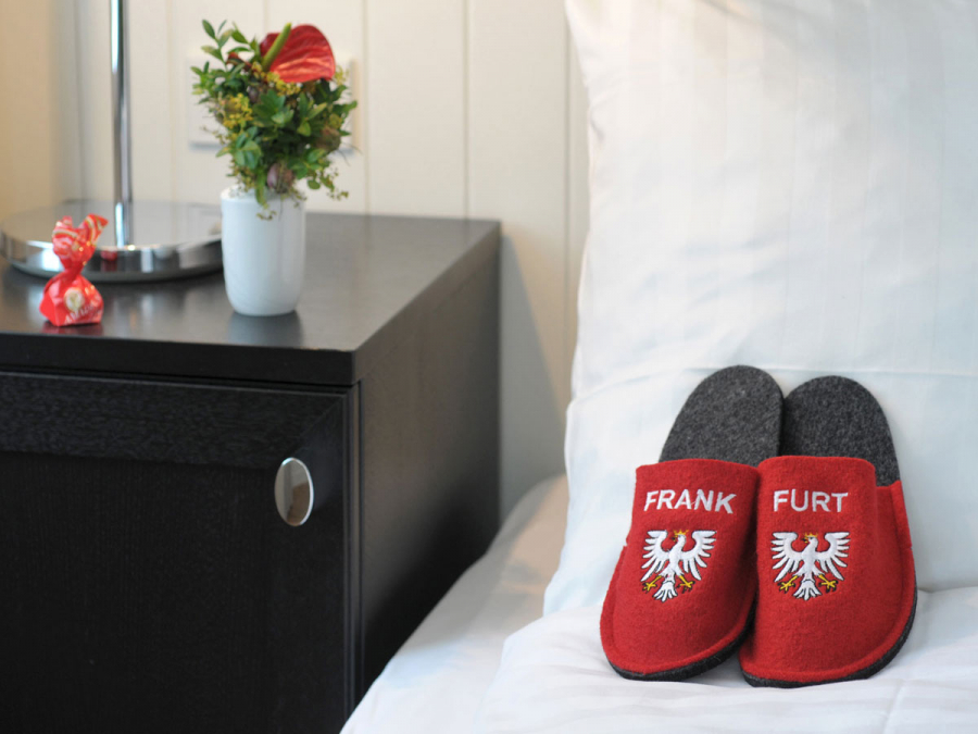 Inside view of a hotel room in Frankfurt am Main
